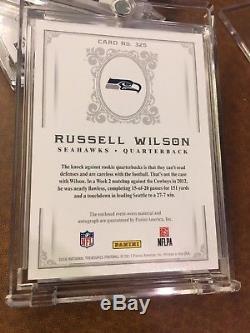 2016 National Treasures Russell Wilson Retro Treasures Auto Patch 2012 RPA /10