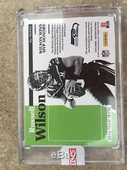 2016 Panini Russell Wilson Pro Bowl Jersey Auto Patch 4/5 Factory Sealed
