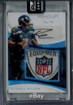 2017 IMMACULATE RUSSELL WILSON AUTO SICK PATCH S/P True 1/1 SEATTLE SEAHAWKS