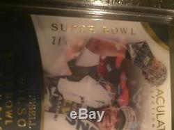 2017 Immaculate Russell Wilson Super Bowl 2/5 AUTO Seattle Seahawks