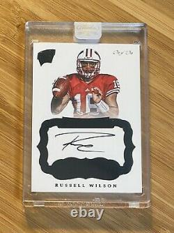 2017 Panini Flawless #1/1 Russell Wilson On Card Auto Autograph BADGERS SEAHAWKS