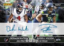 2017 Panini Instant NFL DeShaun Watson RC Russell Wilson Dual Auto 1/1 SP RARE