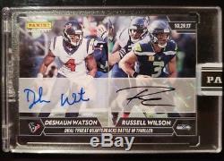 2017 Panini Instant NFL Russell Wilson DeShaun Watson RC Rookie Card Auto 1/1 SP