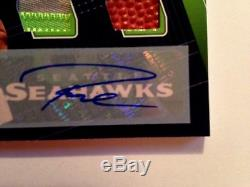 2018 Absolute Tools of the Trade Dual Relic Auto Seahawks Russell Wilson SN 4/5