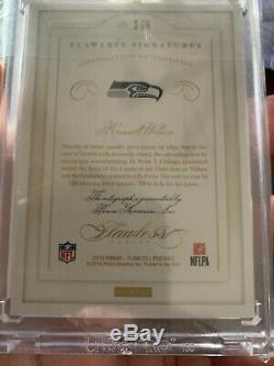 2018 Honors Recollection Collection 2015 Flawless Russell Wilson Auto 1/1