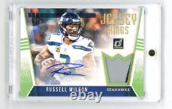 2018 Panini Donruss Jersey Kings Russell Wilson AUTO 2 Color Patch SSP #1/5 1/1