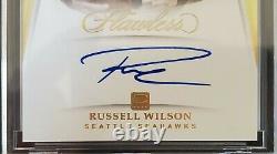 2018 Panini Flawless RUSSELL WILSON #1/1 GOLD Captain On Card Auto Seahawks MVP