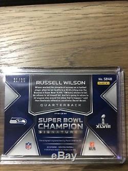 2018 Panini Spectra Seattle Seahawks Russell Wilson Super Bowl Auto /25! RARE