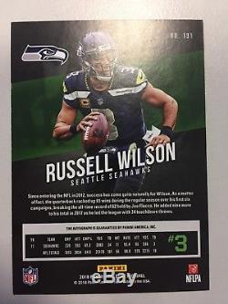 2018 Prestige Russell Wilson Auto #191 SP Seattle Seahawks