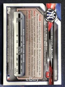 2018 Russell Wilson Bowman Chrome Auto SSP Yankees 120 Cases