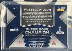 2018 Spectra Russell Wilson SUPER BOWL Signatures Auto Autograph #6/25 SEAHAWKS