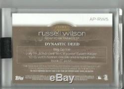 2018 TOPPS DYNASTY BASEBALL RUSSELL WILSON AUTO MLB LOGO TAG #'d 1/1 NYY AUTO