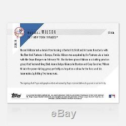 2018 TOPPS NOW MLB #ST-6A RUSSELL WILSON YANKEES AUTOGRAPH #/49 Auto