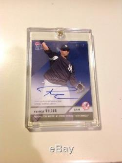 2018 TOPPS NOW #ST-6A RUSSELL WILSON YANKEES Seahawks RC Oddball AUTO 46/49