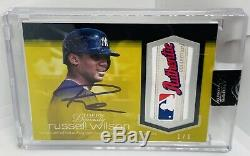 2018 Topps Dynasty Russell Wilson 1/1 Game-Used LOGO Patch Auto New York Yankees