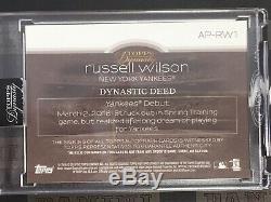 2018 Topps Dynasty Russell Wilson APRW1 Jsy Patch Auto 1/5