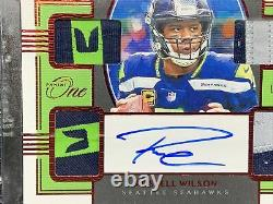 2019/20 Panini ONE NFL Russell Wilson Quad Patch Auto (JERSEY #3/10) SSP