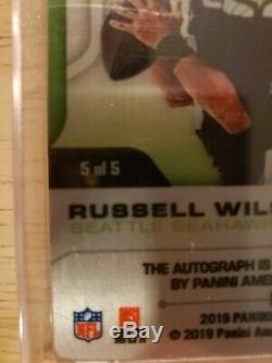 2019 Elements Russell Wilson Gold Metal SIGNATURES Auto 5/5 SEAHAWKS eBay 1/1