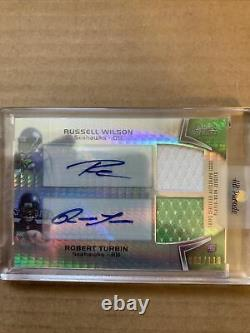 2019 National Treasures DK METCALF Rookie Patch Auto & Russell Wilson- Seahawks