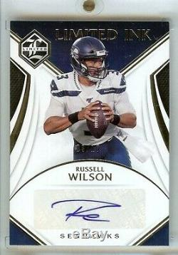 2019 Panini Limited RUSSELL WILSON Auto Limited Ink Autograph #3/10 Jersey #