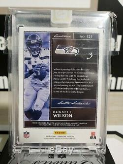 2019 Panini One Russell Wilson 12th Man Patch Auto Jersey #3/3 Seattle Seahawks