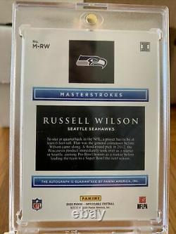2020 Impeccable Football Russell Wilson Masterstrokes Auto 4/5 SSP #M-RW
