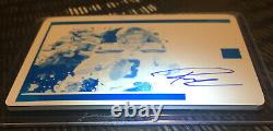 2020 Panini Impeccable Russell Wilson 1/1 Auto Canvass Creations Printing Plate