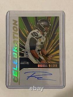 2020 Panini NFL Chronicles Russell Wilson Celebration On Card Auto Seahawks SSP