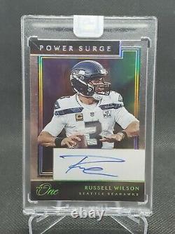 2020 Panini One Russell Wilson Power Surge On-Card Auto #230 Seahawks 5/10