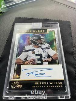 2020 Panini One Russell Wilson Power Surge On-Card Auto #230 Seahawks 9/10 HOF