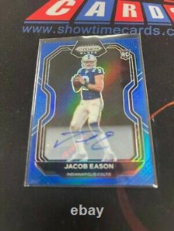 2020 Panini Prizm Black Chronicles Jacob Eason Auto Blue 10/25 Colts