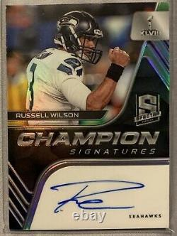 2020 Panini Spectra Russell Wilson Champion Signatures Auto #8/15 Seahawks