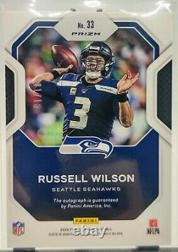 2020 Prizm Russell Wilson Sensational Signatures AUTO 1/15 BOOKEND MVP Season