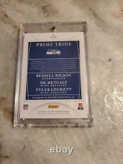 2020National Treasures Prime Trios Russell Wilson Dk Metcalf Tyler Lockett 1of 1
