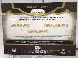 Andrew Luck Russell Wilson Rg3 Triple Threads Auto Jersey# Sp 3/9 Seahawks Colts