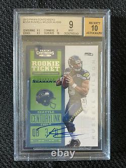 BGS 9 2012 Panini Contenders Russell Wilson Auto Rookie Card 10 Auto