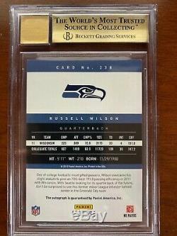 BGS 9.5 2012 Prestige Rookie 10 Auto Russell Wilson /499 Seahawks RC #238