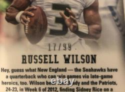 BGS 9.5 Russell Wilson 2012 Panini Prizm Auto Prizms /99 Gem Mint
