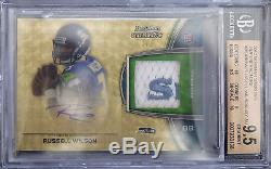 Bgs 9.5 2012 Bowman Sterling Russell Wilson Rc (1/1) Jsy Superfractors Auto 10