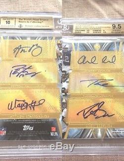 Bgs 9.5 Russell Wilson Aaron Rodgers Stafford Peyton Manning Brees Auto 1/1
