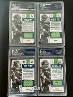 Lot (4) Russell Wilson Contenders Auto Autograph Signature Rookie Rc Sp Psa 10