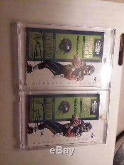 Lot of (2) 2012 Contenders Russell Wilson Auto Rookie Blue Jersey
