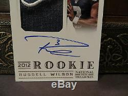 National Treasures Autograph Jersey Auto Rookie Russell Wilson 47/49 2012