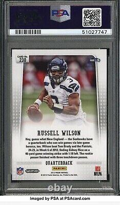 PSA 10 HOLY GRAIL RUSSELL WILSON 1/1 ROOKIE AUTO 2012 Panini Prizm #230 SILVER