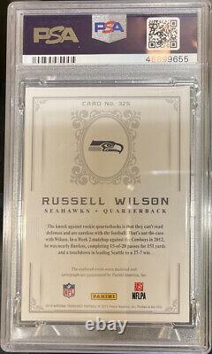 PSA 9 2016 National Treasures Retro Treasures Russell Wilson 3CLR Patch Auto /10