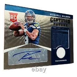 Panini 2012 Russell Wilson Seattle Seahawks #30 Auto Patch Jersey Rookie Card