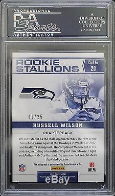 Psa 10 2012 Contenders Russell Wilson #20 (01/25) Rookie Stallions Auto