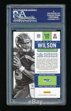 Psa 10 Russell Wilson 2012 Panini Contenders Rookie Ticket Blue Jersey Auto /550