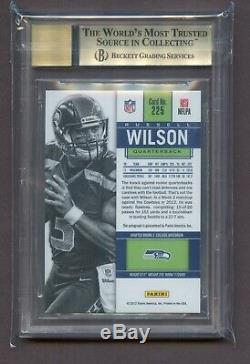 RUSSELL WILSON 2012 CONTENDERS /550 Rookie Auto Autograph BGS 9.5 #225A Blue