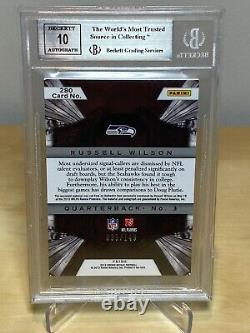 RUSSELL WILSON 2012 CROWN ROYALE SILVER HOLOFOIL BGS 9 with 10 AUTO JERSEY ROOKIE
